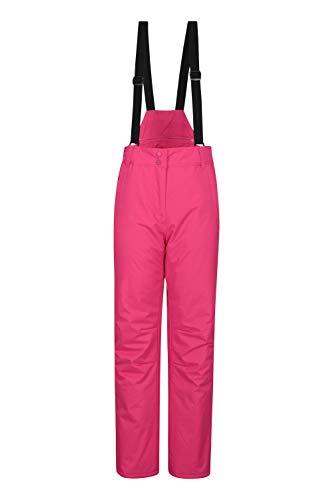 Mountain Warehouse Moon Skihose für Damen - Wasserabweisende Damenhose, Verstellbarer Bund, abnehmbare Träger, Taschen - Ideale Skibekleidung Im Winter Rosa DE 44 (EU 46)