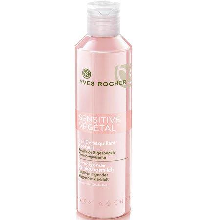 Yves Rocher SENSITIVE VÉGÉTAL beruhigende Reinigungsmilch, sanfte Gesichtsreinigung für empfindliche Haut, 1 x Flacon 200 ml