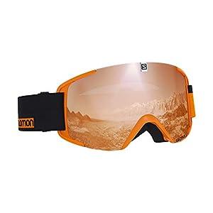 Salomon Unisex Xview Access Skibrille, für verschiedenste Wetterverhältnisse, orange Scheibe mit Flash-Beschichtung (auswechselbar), Airflow System