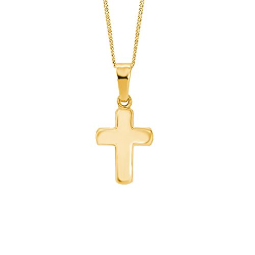 amor Kinder-Halskette mit Kreuz-Anhänger aus Gold 333