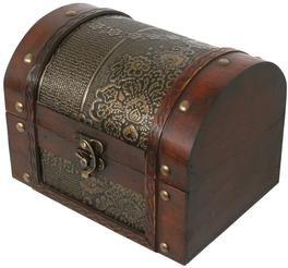 Thunderdog BIG2 - bois Pirate's trésor caisse boîte de rangement de la poitrine 18x13x14cm