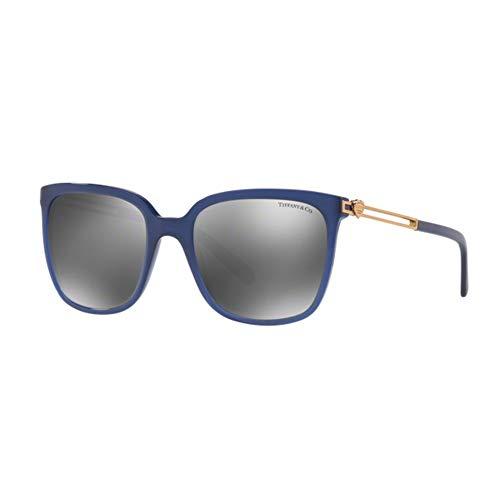 Tiffany & Co. Damen 0TY4138 81926G 54 Sonnenbrille, Blau (Opal Bluee/Greymirrorsilver)