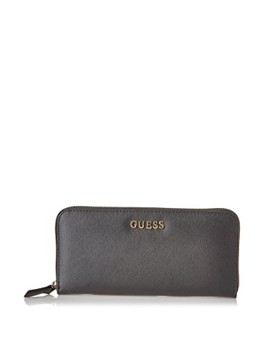 GUESS Sissi Large Zip Around Organizer Black Noir