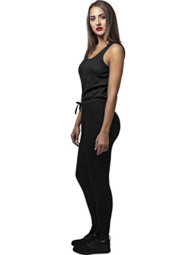Urban Classics Damen Jumpsuit Ladies Melange, Schwarz Black 825, Large - 6