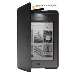 Étui en cuir avec lampe intégrée Amazon pour Kindle Touch - Noir (est compatible avec Kindle Touch uniquement)
