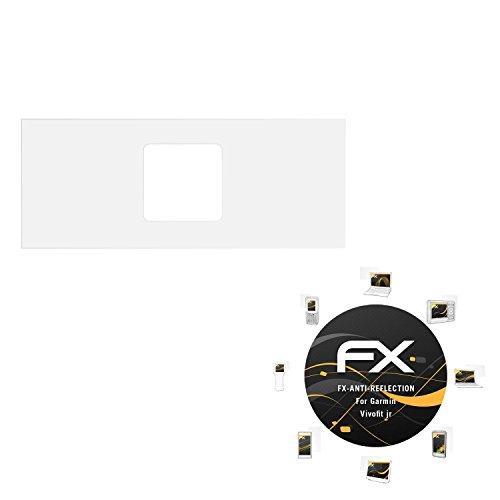 atFoliX Panzerfolie kompatibel mit Garmin Vivofit jr Schutzfolie, entspiegelnde und stoßdämpfende FX Folie (3X)