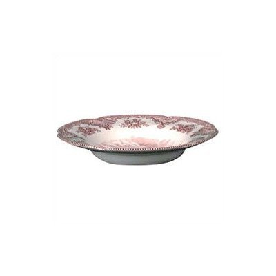 Johnson Brothers Old Britain Castles 8-1/2-Inch Rim Soup Bowl, Pink by Johnson Brothers (Soup Pink Rim Bowl)