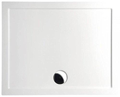 Preisvergleich Produktbild Mineralguss Duschwanne 100x90 - begehbare Dusche 1000x900x40 mm, Weiß
