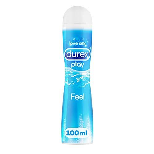 Durex Play Feel Gleitgel auf Wasserbasis - Leichtes, seidiges Gleitgel für gefühlsechtes Empfinden - 1 x 100 ml in der praktischen Dosierflasche -