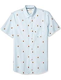 Marca Amazon - Goodthreads Slim-fit Short-Sleeve Dot Print Shirt Hombre