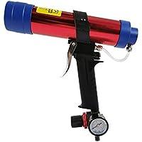 Trabajo de ahorro Pistola neumática de pegamento de vidrio, herramienta de mano de grado industrial con pistola de pegamento antidesbordamiento durable