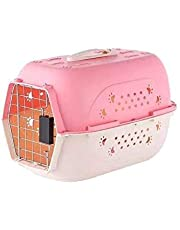 Pets Empire Portable Pet Carrier Travel Kennel Cage Crate Carrier Box for Cat and Puppy (Pink)