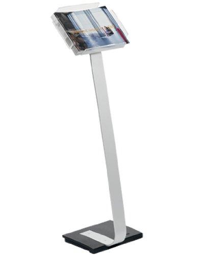 Durable 486323 Bodenständer Display Stand A4, metallic silber