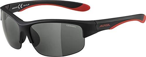 Alpina Unisex Jugend FLEXXY Youth HR Sportbrille, Black matt-red, one Size