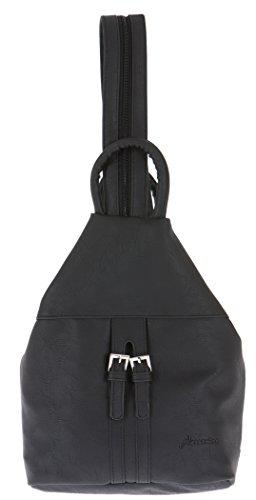 ALESSANDRO Femme Bag Handtasche Rucksack Damentasche + Schlüßelmäppchen (TIRANO Black 6) LUGANO Black 7