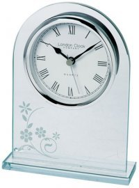Horloge de table en verre
