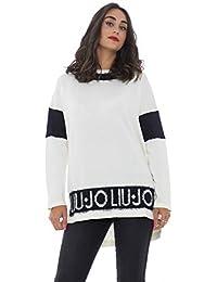 Liu Jo Sport maglia chiusa donna con dettagli effetto pelliccia