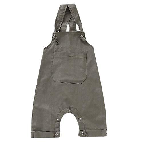 LEXUPE Bekleidung Kleinkind scherzt Baby Jungen gestreifte Hose beiläufige Hosen Hosenträger Denim Jeans