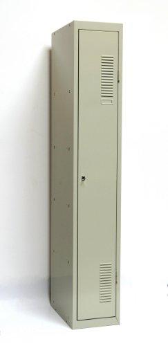 SPIND-1 (Grund) 180x30 cm, 1 Boden, Zylinderschloss, (RAL7035) lichtgrau (Kleiderspind...