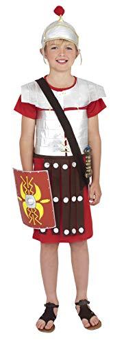 Soldat Helm Kostüm - Smiffys Kinder Römischer Soldat Kostüm, Tunika und Helm, Größe: L, 38657