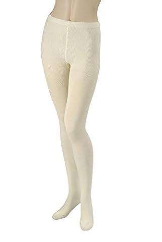 Strumpfhose Damen 80% Baumwolle Blickdicht Warm 250 DEN M (65-80