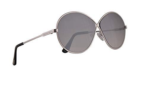 Tom Ford FT0564 Rania-02 Sonnenbrillen Silber Mit Grauen Verspiegelten Gläsern 64mm 18C FT564 TF 564 TF564