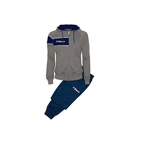 Tuta Clio Grigio-Blu Zeus Corsa Sport Uomo Staff Running jogging Allenamento Relax Calcio Calcetto Torneo Scuola Sport (XXL)