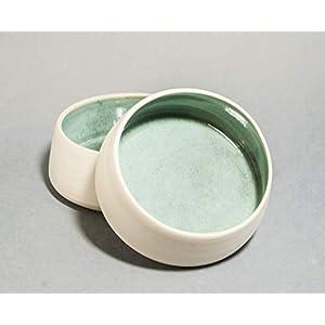 Zwei Hundenäpfe aus Keramik. 600 ml, Keramik-Napf Lund, Trink- und Fressnapf für Hunde und Katzen