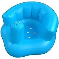 Asiento De Aprendizaje del Bebé De Múltiples Funciones del Asiento Inflable Ayuda Flotador De La Piscina del Baño del Taburete Pequeño Sofá Portable De La Silla De Comedor para Bebés Y Niños 1pc Azul