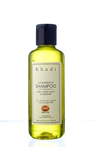 KHADI Anti Dandruff Herbal Shampoo - Ayurvedic 210 ml - Enriched with Neem & Rosemary