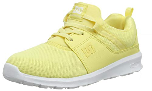 DC Shoes Heathrow, Scarpe da Skateboard Bambina, Giallo (Pale Banana Pba), 38 EU