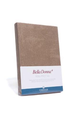 Bella Donna Edel-Frottee Spannbetttuch in 180x200 bis 200x220, für Wasserbetten und Matratzen (0114-wollweiss)