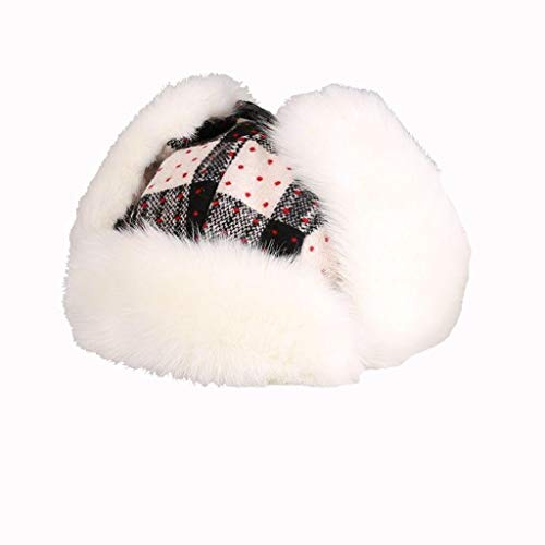 Nosterappou Lei Feng Hut weibliche Winter Ski Mütze fliegende Mütze, Gehörschutz Reiten Hut, Radmütze Baumwollkappe, warme und winddichte Verdickung innerhalb Student Mütze, Retro Mode Mütze ()