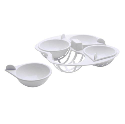 Kitchen Craft Mikrowellengeschirr Eier-Pochierer, 4Einsätze