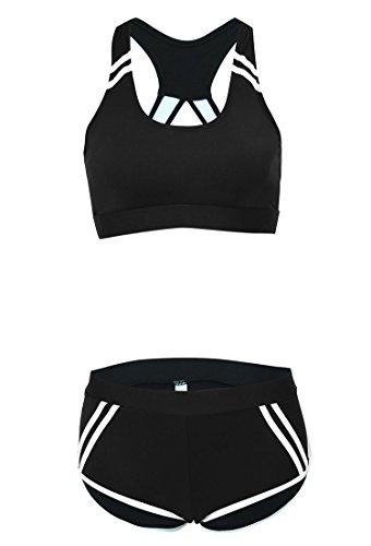 Bademode Arena Damen Frauen Bikini Set High Waist Neckholder Schwimmanzug