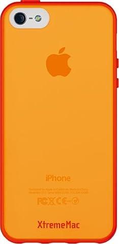XtremeMac IPP-MAN-73 Microshield Accent Schutzhülle für Apple iPhone 5 rot/orange