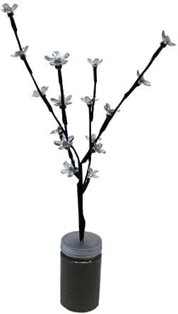 Idena 8582093 Ramo luminoso con fiori di ciliegio, con 16 lampadine a LED, per interni ...