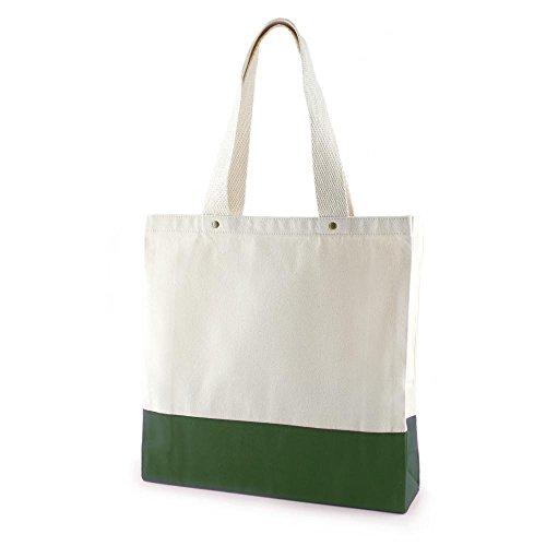 Schicke Freesia Canvas Einkaufstasche grün von Kaufdichgruen I Umhängetasche Beuteltasche Bag Schultertasche Canvas Tasche Beutel I vegan Naturmaterial I 37x37x10 cm I Einkaufen Shopping (Natürliche Umhängetasche Baumwolle)