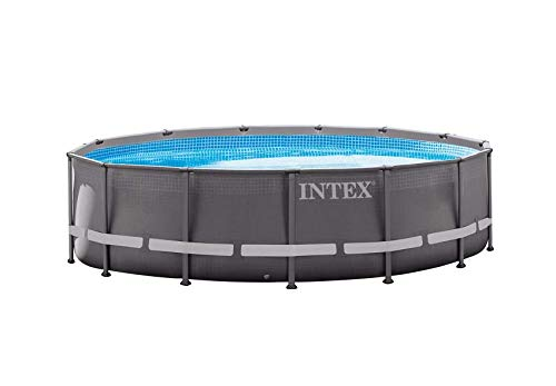 Intex Ultra Rondo Frame Pool Set, 12706 liters, Grau, Durchmesser 427 x 107 cm
