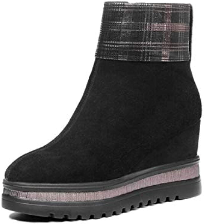 ... Chaussures À Talons.,. Shukun Bottes Printemps, Printemps, Bottes  Automne et Hiver Bottes à Bout Pointu pour Femmes a669b5dc432