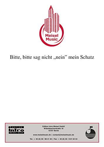 """Bitte, bitte sag nicht """"nein"""" mein Schatz: Single Songbook (German Edition)"""