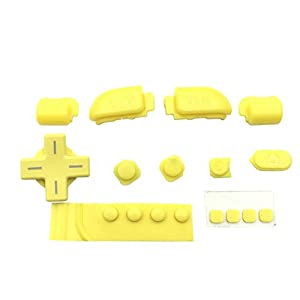 Meijunter Ersatzknopf-Schlüsselkappe für New Nintendo 3DS XL / 3DXLL, ABXY LB RB ZL ZR und andere Teile eingestellt