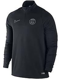 2015-2016 PSG Nike Midlayer Top (Black)