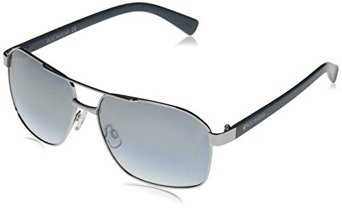 Rocawear Men's R1494 Slvbl Non-Polarized Iridium Aviator Sunglasses Silver Blue 62 mm