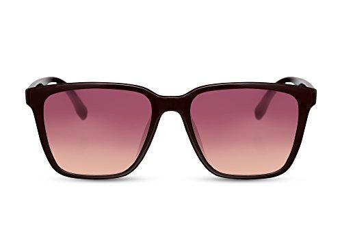 Cheapass Sonnenbrille Violett UV-400 Designer-Brille Plastik Damen Herren