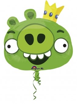 Super/Form Angry Birds King Pig Party Zubehör (Spiele Angry Birds Halloween)