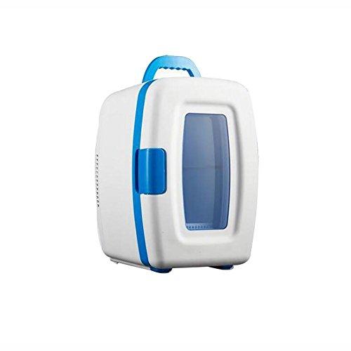 HuanLeBao thermoelektrische Kühlbox, 10 Liter, anschlussfertig für den PKW, 12-Volt, Kühlen und Heiz-Funktion, tragbarer Mini-Kühlschrank , Weiß , 10L
