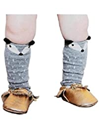 1par niños niña zorro patrón Knee High Calcetines Medias de ilovediy