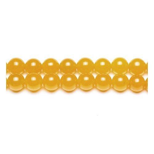 Filo 62+ Giallo Opaco Giada Malese 6mm Tondo Liscio Perline - (GS9971-2) - Charming (6 Mm Opaco)