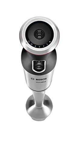 Bosch BATIDORA DE Mano MSM87130 750W,PIE INOX, 750 W, Plástico, 12 Velocidades, Negro, Acero inoxidable, Transparente